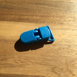 Pacifier clip plastic 20mm - blue