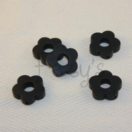 Rond bloemetje - zwart