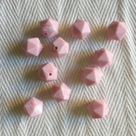 Kleine icosahedron - marmer zacht roze
