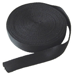 Polyesther webbing 25 mm - black