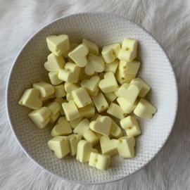 Klein hartje - creme geel