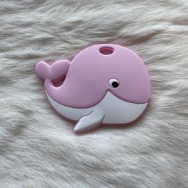 Blije walvis figuur - zacht roze