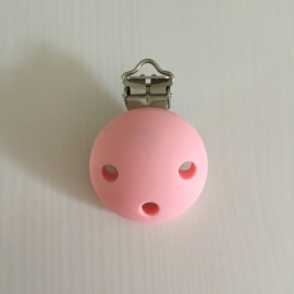 Pacifier clip silicone - light pink