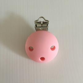 Speenclip siliconen - licht roze