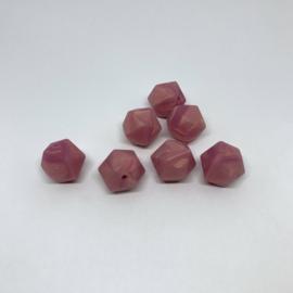 Kleine icosahedron - rosé goud parelmoer