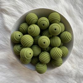 19mm geribbeld - leger groen