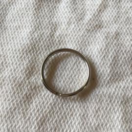 Sleutelring 2cm zilver