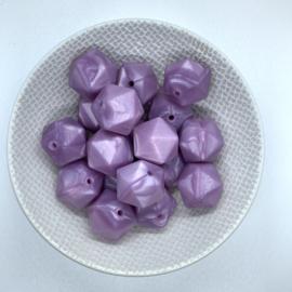 Icosahedron 17mm - parelmoer paars