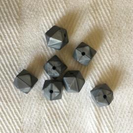 Kleine hexagon - parelmoer zilver