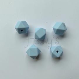 Kleine hexagon - zacht blauw