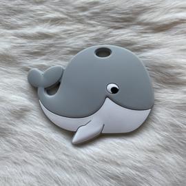 Blije walvis figuur - licht grijs