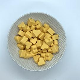 Klein hartje - goud geel