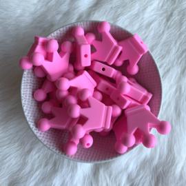 Kroontje kraal - roze