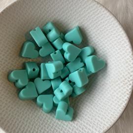 Klein hartje - licht turquoise
