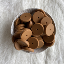 Coin bead 25mm - cookie