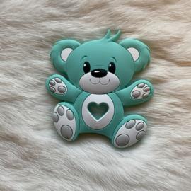 Bear teether - light turquoise