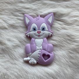 Fox sitting teether - lavender