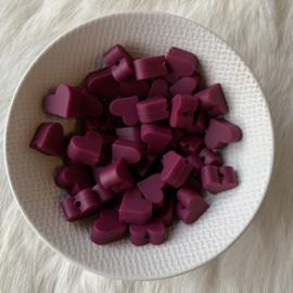 Klein hartje - wijnrood
