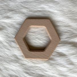 Houten bijtfiguur - hexagon