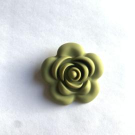 Grote bloem - leger groen
