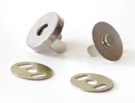 Magneetsluiting 19mm zilver