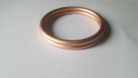 Slingrings size L - matte rose gold