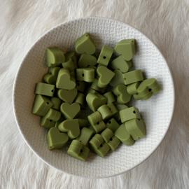 Klein hartje - leger groen