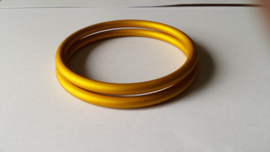 Slingrings size L - matte yellow gold