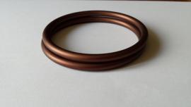 Slingrings size L - matte bronze