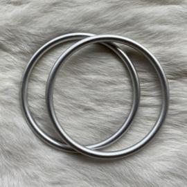Slingringen maat XL - zilver mat