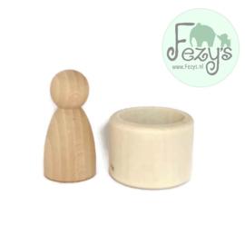 Pegdoll - houten bekertje