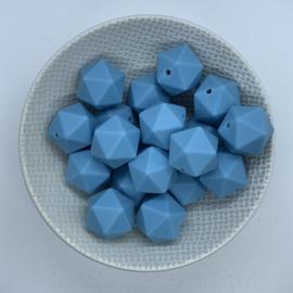 Icosahedron 17mm - ijsblauw