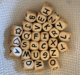 Letterbeads - wood 10mm