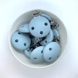 Speenclip siliconen - oud blauw