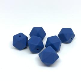 Hexagon - staal blauw