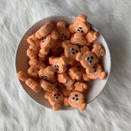 Hondjes kraal - zalm oranje