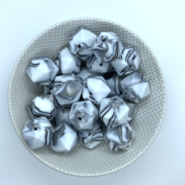 Icosahedron 17mm - zebra marmer