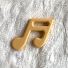 Muzieknoot - goud geel