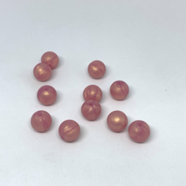 12mm - rose goud parelmoer