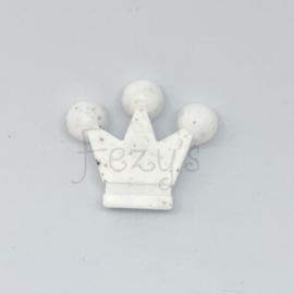 Kroontje kraal - wit dalmatier