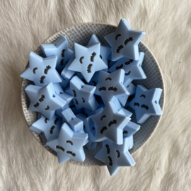 Slapend sterretje kraal - zacht blauw