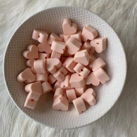 Klein hartje - zacht perzik