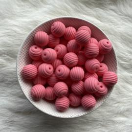 15mm geribbeld - koraal roze