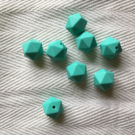 Icosahedron 17mm - licht turquoise