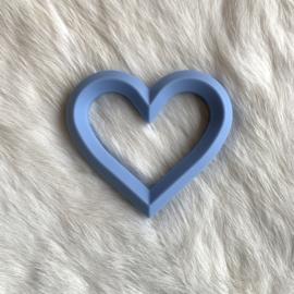 Hart met 2 gaten - licht poeder blauw