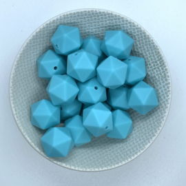 Icosahedron 17mm - aquablauw