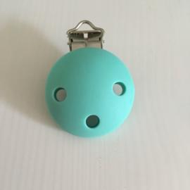 Speenclip siliconen - licht turquoise