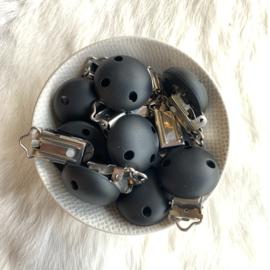 Speenclip siliconen KLEIN - zwart