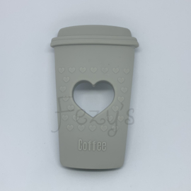 Koffie beker - licht grijs