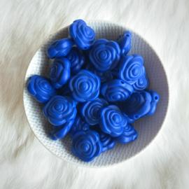 Kleine bloem -  licht navy